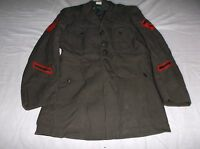 US Military Army Mans Wool Coat Serge Green SIZE 41 S 8170
