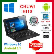 64GB+4GB 10.1''CHUWI Hi10 Tablet PC Win10+Android 5.1 HDMI 1920x1200+Tastiera