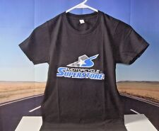 T-Shirt Motorcycle Superstore Black Blue Premium Logo Women's SM Small Child O1