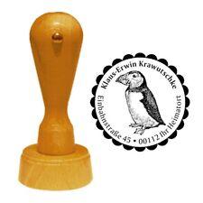 Stempel « PAPAGEITAUCHER » Adressenstempel Motiv Vogel Puffin Papageientaucher