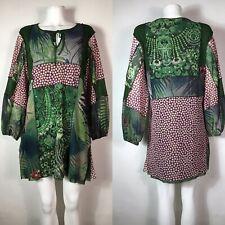 Rare Vtg Jean Paul Gaultier Soleil Green Mesh Dress L