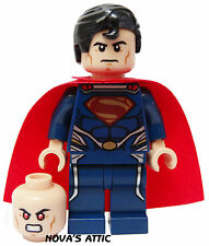 LEGO  SUPERMAN   DARK SUIT WITH DUEL HEAD  MINIFIGURE  NEW GENUINE