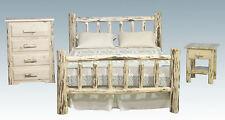 Log Bedroom Furniture Sets Amish Made Rustic Bed Dresser and Nightstand Set