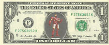 IronMan (Super Hero) - Dollar Bill {in color} - REAL Money!