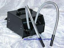New Cold Fiber Optic Microscope Illuminator w Dual Y-Shape Pipe Gooseneck Fiber