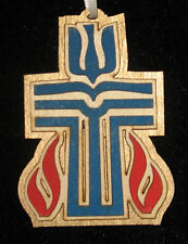 Presbyterian Cross Ornament, Wood Laser Cut, USA