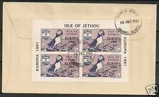 Isle of Jethou 1961 Backside franked FDC cover