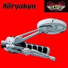 Kuryakyn Chrome Turn Signal Mirrors for Harley Davidson 1431