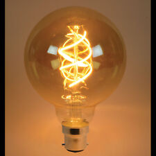Retro vintage industrial style LED spiral filament lamp 230v 5w B22 G95 BAYONET