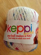 Lion Brand Keppi Sparkle Yarn-Knit/Crochet RAINBOW CUPCAKE One Ball Makes a Hat