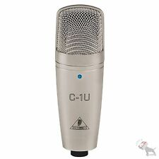 Behringer C1U USB Studio Condenser Podcaster Home Recording Music Microphone