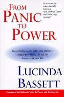 From Panic to Power by Lucinda Bassett paperback book FREE SHIPPING Calm Anxiety