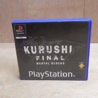 Kurushi Final Mental Blocks Playstation PS1 Game Rental Version Clamshell Case