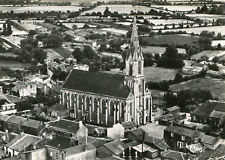 Carte MONTREVAULT SUR EVRE Saint Quentin en Mauges L'église Vue aérienne