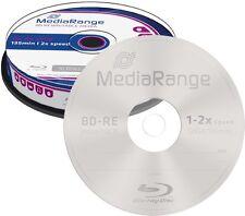 10 MediaRange BD-RE 25GB 2x Blu-ray Rohlinge wiederbeschreibbar Spindel