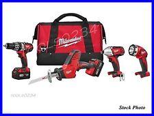 Milwaukee 2695-24 M18 Cordless Combo Hammer Drill Hackzall 1/4 Hex Impact & More