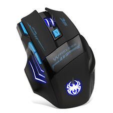 Adjustable 2400DPI Optical Wireless Gaming Game Mouse For Laptop PC Hottest