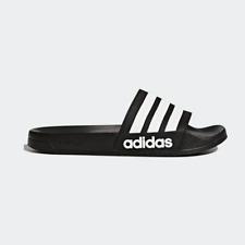 3ecef7cfd00c08 New Adidas Mens ADILETTE SHOWER AQ1701 BLACK  WHITE Cloud Foam US M 6 - 10