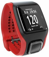 TomTom Multi Sport Cardio GPS Watch & Training Partner - Red / Black (A)