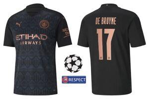 Trikot Puma Manchester City 2020-2021 Away - De Bruyne 17 I Champions League