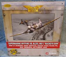 "Corgi Flying Mule Spitfire VB BL255 MD-T ""Buckeye-Don"" Gentile USAAF Debden 1:72"