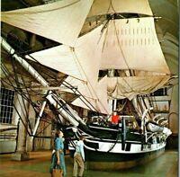 Lagoda half-scale model whaling ship bark museum New Bedford MA Vintage Postcard
