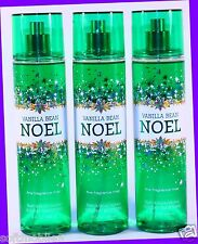3 Bath Body Works Holiday VANILLA BEAN NOEL Fragrance Mist Body Spray WINTER