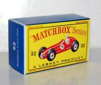 Matchbox Lesney Product No 52  MASERATI 4CLT/1948 RACE Empty Repro D Style Box