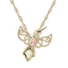 Black Hills Gold hummingbird pendant womens 18 inch necklace BHG 10k yellow gold