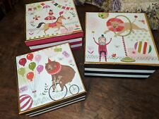3 Decorative Circus Theme 'Anne Was Here' Stackable Nesting Boxes Home Decor