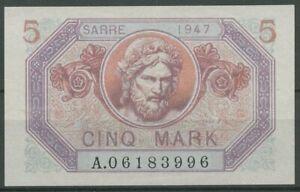 Saargebiet 5 Mark 1947, Ro 869, minimal gebraucht (K712)
