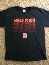 NC State Wolfpack Black Short Sleeve Men's Large Shirt North Carolina State Used