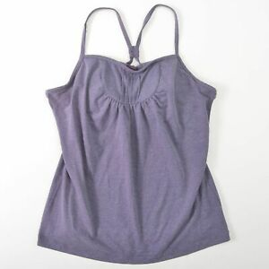 REI Co-op Flora Tank Top Built In Bra Purple Womens Size 6