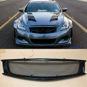 Honeybomb Front Mesh Grill Grille for 2008-2013 Infiniti G37 Coupe Black