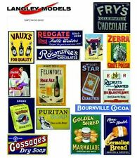 More details for street ads large paper copy enamel signs smf22n colour oo scale models decals