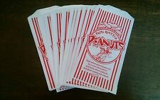New 25 Fresh Hot Peanuts Paper Bags Concession Stand Party Favors Movie