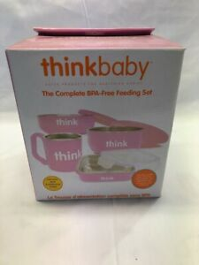Thinkbaby Complete BPA Free Feeding Set (Pink) - 7 Piece