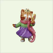 2005 Hallmark BABY'S MY 3rd THIRD CHRISTMAS Ornament Kitten Girl Age Collection