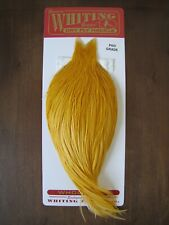 Fly Tying Whiting Pro Rooster Cape Golden Straw #A