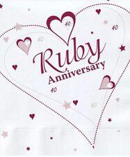 Ruby Wedding Anniversary X36 Napkins