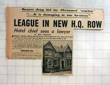 1959 St Anne's, Sandown Hotel, Not For Sale To Football League