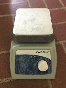 """VWR 615 Magnetic Stirrer 4"""" x 4"""" Aluminum Platform 12365-350 Tested Working!"""