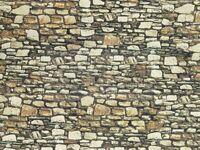 NOCH 57520 - Muro in pietra dolomitica, cartoncino in rilievo 3D, scala H0, TT.