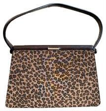 Authentic Bottega Veneta Leopard Print Beige Brown Small Clutch Handbag
