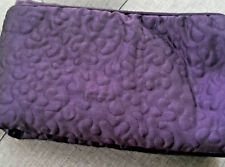 ROYAL HERITAGE HOME 26x26 EUROPEAN PILLOW SHAM EGG PLANT PURPLE QUILTED
