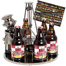 """BRUBAKER Metall Beer Bottle Holder """"Grill Station"""" Gift Idea - For 6 Bottles"""