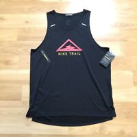 Nike Trail Rise 365 Breathe Running Tank Top Size M Black CT7370-010 Fitness Gym