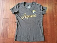 Women's NFL Team Apparel 1st Fashion Collection Jaguars Small Sequin T Shirt