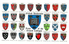 Postcard -  ARMS OF THE OXFORD COLLEGES         ( Ref F8)