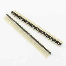 100Pcs Gold Plated 1.27mm Pitch 40 Pin Male Single Row SMT SMD Pin Header Strip